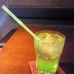 かえりみちのブルー珈琲 - ドリンク写真:キウイソーダ
