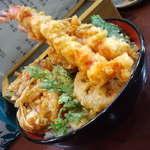 天丼の岩松 - 大海老丼、全体図