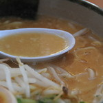 にんたまラーメン - スープの様子