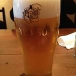 里の宿 - グラスビール ¥350