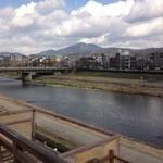 露瑚 - 2階席からの東山 鴨川 京都の街並み