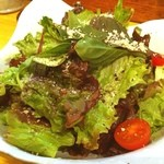 鳥雅 - オリジナルサラダは、ヴォリュームたっぷりで安くて、美味いんだぉー