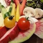 17292834 - 畑直送!冬野菜のバーニャカウダ ミルキーなカキ風味ソース1,280円
