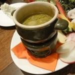 17292835 - 畑直送!冬野菜のバーニャカウダ ミルキーなカキ風味ソース1,280円
