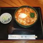 麻屋 - 豚たまチゲうどん 1000円(冬季限定)