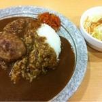 キッチンメル - カレー(400円)+ハンバーグ(100円)