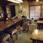 蕎麦切り 彦兵衛 - 私はカウンターに座りました。