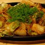 やきやき山 - ピリ辛 豚キムチ鉄板焼き