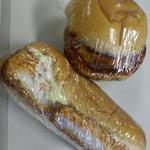 森田屋パン店 - いかフライ&とうふバーガー