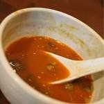 麺屋 高橋 - スープ割り