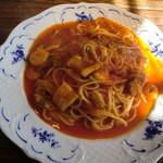 カフェ・レスパス - 魚介類のトマトスパゲティ
