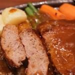 キッチン あじやま - ハンバーグステーキセット大