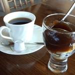 風のアトリエ - ランチのコーヒーとコーヒーゼリー