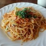 風のアトリエ - ベーコンと春キャベツのトマトスパゲッティ―(ランチ)