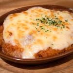 小さいたまご - 「プレーンドリア」(380円)。安いッ!チーズがトロトロでなかなか美味しかった。