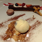 アートレストラン キリストン バー - (*≧ω≦*) キリストンガーデン:680円:レーズンのアイスも普通に美味しかったです♪