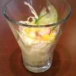 カフェ トレビ - 料理写真:トレビランチ840円-①コップにはいったサラダ