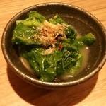 17309798 - 菜の花カラシ和え(つきだし)