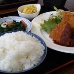 食堂 山男 - 日替わり(みそカツ)