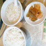 Ryuukarou - セットのライス・白身のスープ・ザーサイ