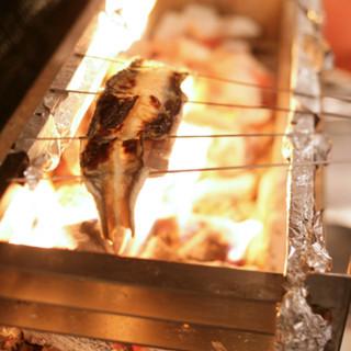 炭火で焼き上げる関西風のうなぎ