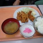 波止場食堂 - 鶏唐定食 500円(人気有り)