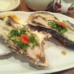 すし山ざき - 牡蠣ポン酢で。