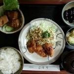 レストランごとう - Aランチ 豚の角煮とかきフライ ¥980