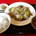 聚幸園 - 聚幸園 @板橋本町 週間サービスメニュー 野菜肉いため定食 550円