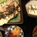 季りとおし - とん平焼き定食(日替わり)