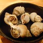 貝や しるひ - ツブ貝の酒蒸し煮