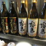 丸万焼鳥 - ビールの後はせっかく宮崎に来たんで焼酎をグビグビいただきました。