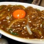 そば処 まる栄 - カレー丼 アップ