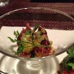 イタリア料理 ドルチェヴィータ - ホタルイカのカクテルサラダ