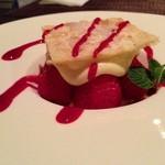 イタリア料理 ドルチェヴィータ - 苺のミルフィーユ