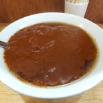 17327095 - 極辛カレーラーメン、下の大辛カレーラーメンと比べてみてください!