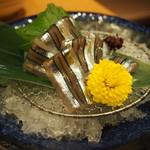 薩摩魚鮮 - きびなごの刺身を酢味噌でJPG.jpg