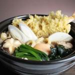 まる竹 - 「鍋焼きうどん」 温まります!