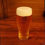 ユキガヤ食堂 - エビスの生ビール