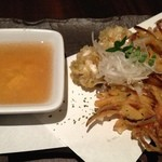 神戸創作Dining 縁 - 白子と野菜の天ぷら