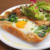 Brasserie Wakano - 料理写真:ほうれん草と目玉焼きのガレット