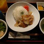 17336705 - じっくり煮込んだソーキ煮丼セット(2013/02/15撮影)