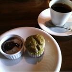 アールカフェ - デザートは二種類♡*・黒胡麻のパンナコッタうまー♡*・