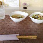 1734589 - ハンバーグランチ(1) スープ(味噌汁)とサラダ