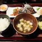 つきじ 左光 - 本日の魚料理(800円)魚は鯖!