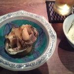 さとほろ - 手作り豆腐とアワビの酒蒸し