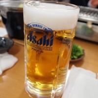 新島水産-生ビールはアサヒのスーパードライ