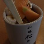 和膳 松たに - さすがお寿司屋さん、器が湯呑茶碗