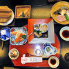 奥の湯 湯元館 - 料理写真:夕食(はじめに並んでいた料理)
