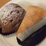 パティスリー ヌヌー - 駱駝屋さんのクッキーシュー、美食家のチーズケーキ